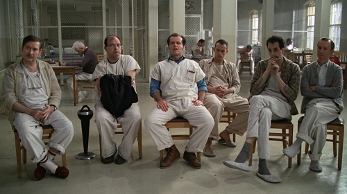 one flew over the cuckoo nest One flew over the cuckoo's nest - 1975 a criminal pleads insanity after getting into trouble again and once in the mental institution rebels against the oppressive.